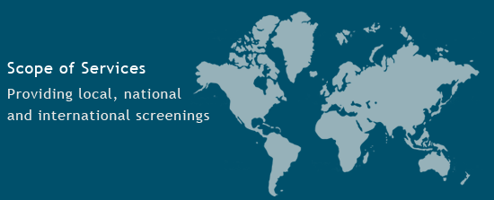 Providing local, national and international screenings